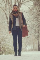 peek&clobbenburg bag - Zara shoes - Zara jacket - Forever21 scarf