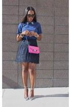 Jcrew heels - PROENZA SCHOULER bag - Jcrew skirt - madewell top