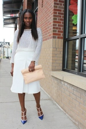 Celine bag - Zara top - Valentino heels - asos skirt