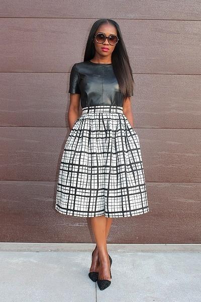 asos skirt - coach heels