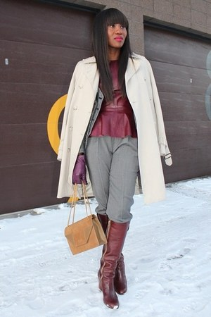 Chloe boots - Yves Saint Laurent bag - Jcrew pants - H&M top