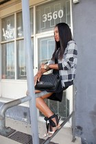 Chanel bag - Trina Turk dress - Equipment jacket - Jcrew sandals