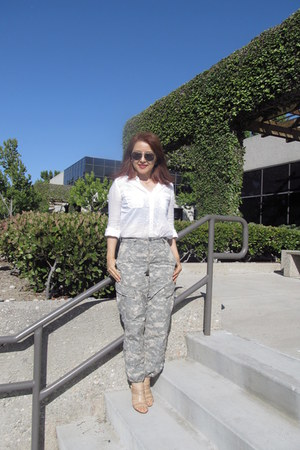 BDG shirt - aviator tommy bahama sunglasses - Military Issue pants