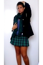 blazer - skirt - top - scarf