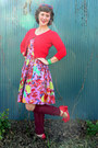 Red-xhilaration-sunglasses-light-purple-strapless-aryn-k-dress