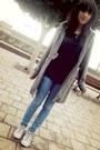 Heather-gray-thrifted-vintage-coat-blue-bershka-jeans-black-zara-sweater