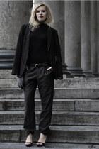 black COS sweater - black WE men blazer - charcoal gray WE men pants