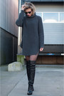 Black-other-stories-boots-dark-gray-hope-sweater-black-vintage-shorts