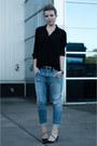 Light-blue-diesel-jeans-black-vero-moda-shirt-black-sarenza-heels