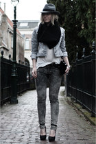 black Frenchonista bag - heather gray the Sting jeans - heather gray H&M hat