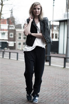 black the Sting jacket - navy H&M Trend pants - off white H&M t-shirt