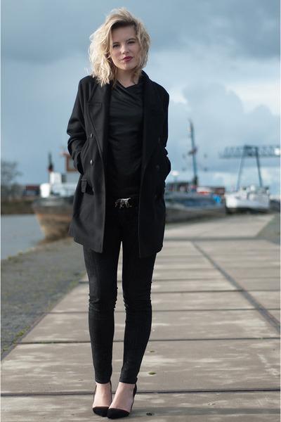 black Drykorn coat - black Drykorn vest - black Drykorn pants