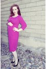 Hot-pink-maternity-asos-dress-black-patten-guess-pumps