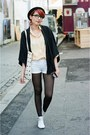 White-new-look-boots-black-h-m-blazer