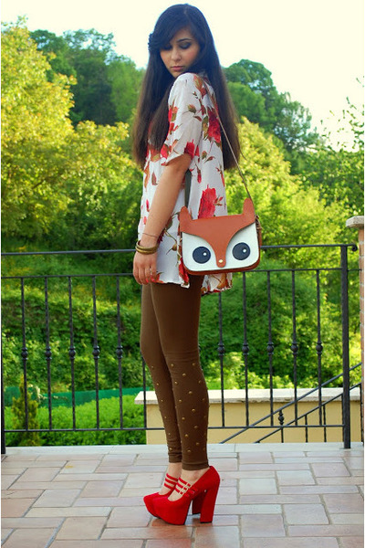 tawny Lovelywholesale bag - bronze Gofavor necklace - white vintage blouse