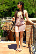 light pink OASAP dress - Burberry bag - roberto cavalli sunglasses