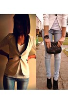 reserved jacket - Deichmann shoes - pull&bear jeans - Tally Weijl blouse