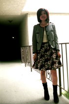 gray H&M jacket - black H&M skirt - black Michael Kors boots