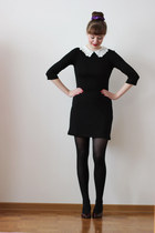 black PERSUNMALL dress - crimson thrifted vintage pumps