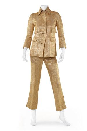 gold Dolce & Gabbana suit