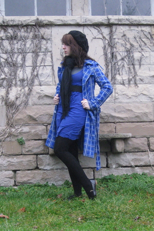 blue Charlotte Russe coat - black Forever 21 hat - gray Target shirt - blue Urba