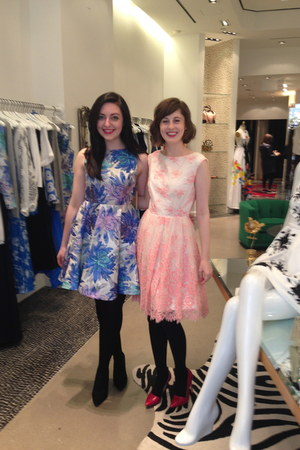 sky blue Alice & Olivia dress - bubble gum Alice & Olivia dress