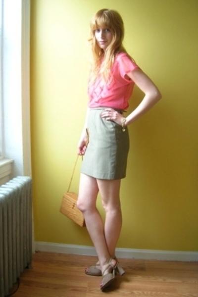 vintage blouse - Railroad via Beacons Closet skirt - Vintage via Etsy bracelet -