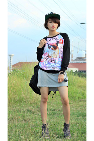 Nefertiti skirt - black adorable project shoes - foymall hat
