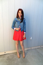 banana republic skirt - BCBGeneration shoes - Urban Outfitters jacket