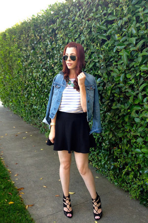 Urban Outfitters jacket - JCrew Factory top - Forever 21 skirt - Zara heels