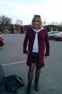 Black-boots-black-jacket-maroon-cardigan-black-skirt-white-top