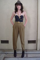 brown high waist pants