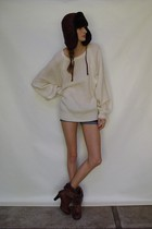 beige sweater