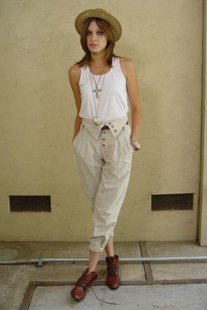 beige pants