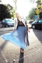 blue Glassons skirt - sans pareil vintage top