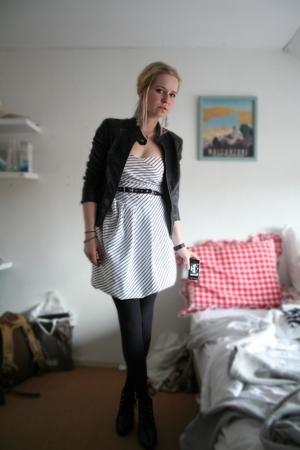 Zara dress - Pimkie jacket - H&M shoes - Cant remember belt