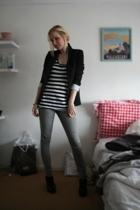 Zara blazer - Pull & Bear shirt - Vero Moda jeans - H&M shoes