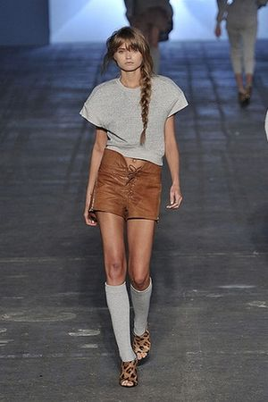 silver Alexander Wang t-shirt - brown Alexander Wang shorts