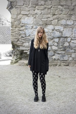 cross Forever 21 leggings - creepers Underground flats