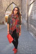 Bimba & Lola flats - New Yorker scarf