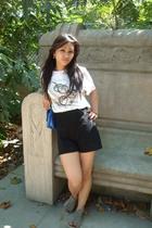 h&m via thrift town t-shirt - MORGAN shorts - Topshop accessories