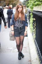 black H&M shorts - navy H&M cardigan