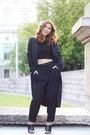 Blue-zara-coat-black-mules-zara-heels-black-cropped-top-zara-top