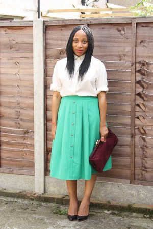 vintage skirt - Miss Selfridge bag - Zara pumps