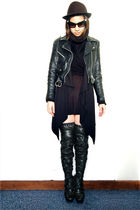 black vintage jacket - black Nicholas Kirkwood for Rodarte boots