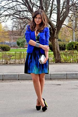 H&M blazer - BSB dress - H&M bag