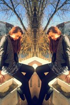 New Yorker jacket - H&M Trend boots - new look shirt - new look blouse