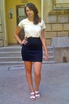 eggshell head meli melo accessories - black thrifted skirt