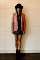 Mini Market blazer - Hyden Yoo shirt - H&M dress - vintage hat - Colonial Madnes