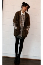 PAM jacket - H&M dress - United Bamboo shirt - walgreens tights - Colonial Madne
